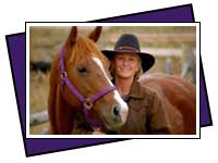 Sherri Ohs-Mosley with her horse